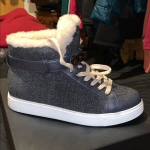 Cute heather gray coach sneakers